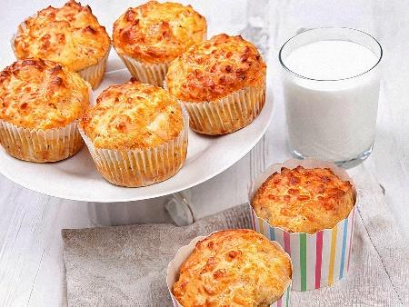 Солени мъфини с овесени ядки, сирене, кашкавал и кисело мляко без брашно - снимка на рецептата
